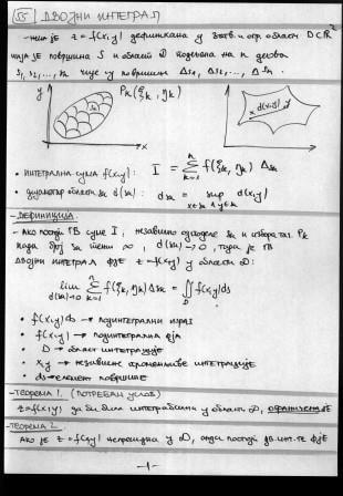 Matematika Usmeni Skripte Ekof